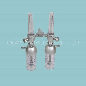 LW-FLM-4D Twin Oxygen Flow Meter with Humidifier